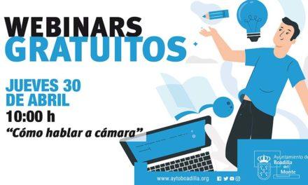 """El Ayuntamiento de Boadilla organiza el webinar """"Cómo hablar a cámara"""" dirigido a emprendedores y profesionales"""