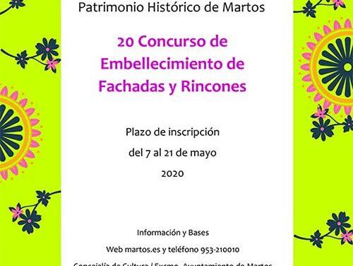 Valdivielso anima a la ciudadanía a que participe en la XX edición del concurso de fachadas y rincones de Martos