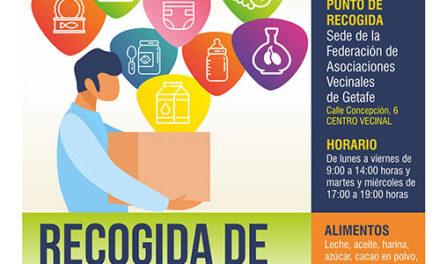 Recogida de alimentos en Getafe para las familias con escasez de recursos a causa de la crisis de la COVID-19