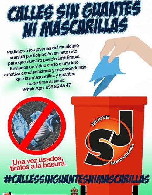 """""""Calles sin guantes, ni mascarillas"""" una campaña en la que los jóvenes muestran la forma correcta para desechar estos residuos"""
