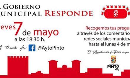 El jueves 7 de mayo, el Gobierno Local de Pinto responde