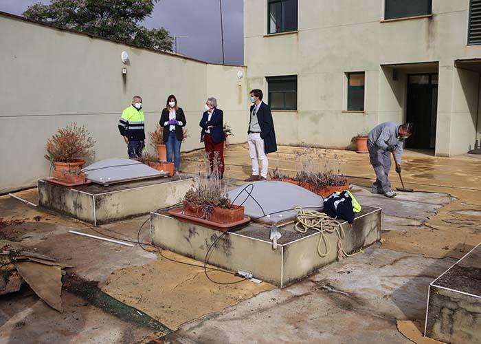 Comienzan las obras de remodelación de la terraza de la BPM Lope de Vega