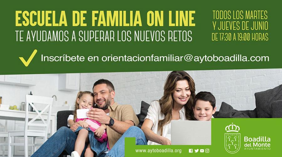 Boadilla pone en marcha una Escuela de Familia online con talleres sobre aspectos de la educación y relación con los hijos