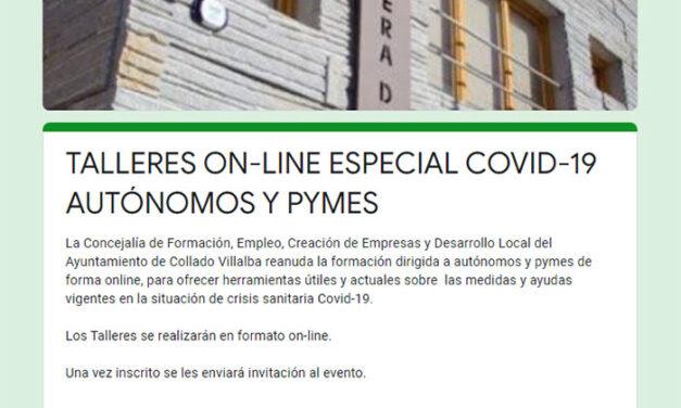 El Ayuntamiento de Collado Villalba impartirá dos talleres online para autónomos y pymes con información útil sobre las ayudas por el covid-19