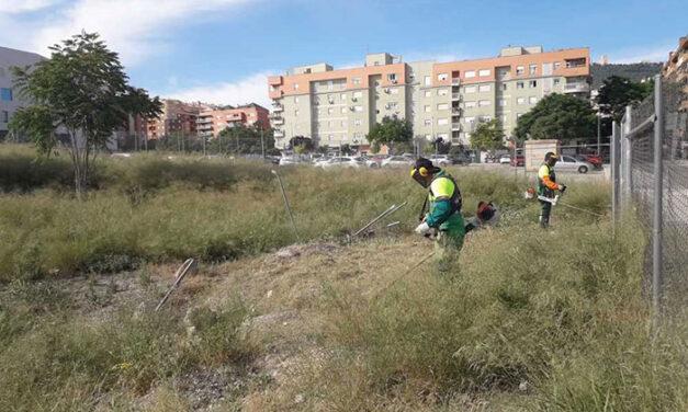 El Ayuntamiento de Jaén desbroza, hasta la fecha, el 80% de las parcelas de su titularidad