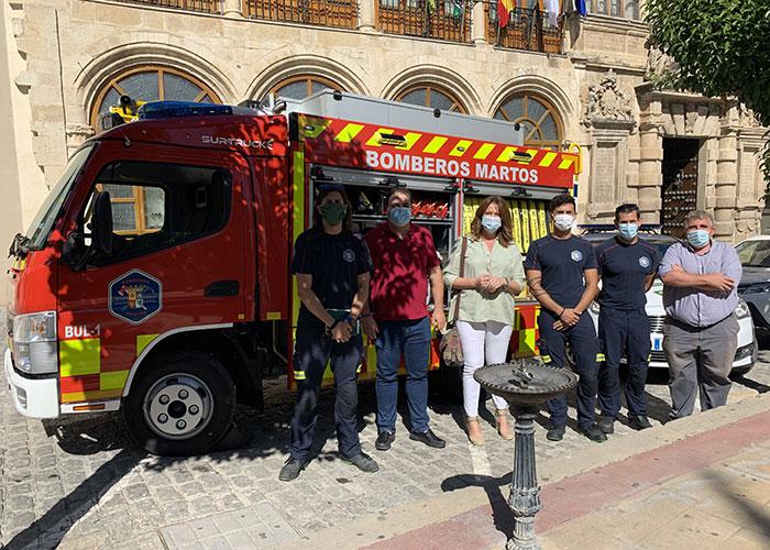 El Ayuntamiento de Martos invierte cerca de 200.000 euros en la adquisición de un camión de dimensiones reducidas para el parque de bomberos