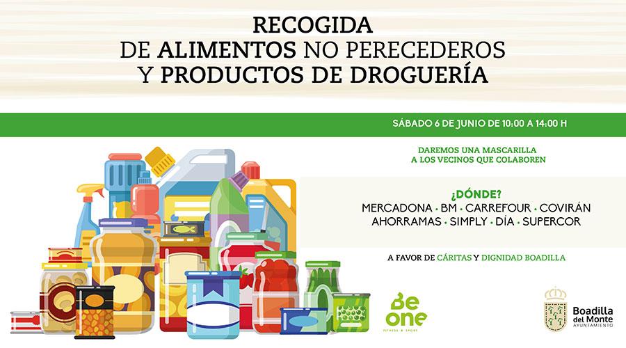 Boadilla realizará el próximo sábado una recogida de alimentos a beneficio de afectados económicamente por el coronavirus