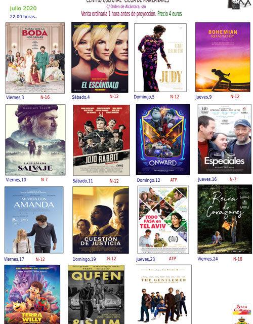 """El 3 de julio vuelve el Cine de Verano, adaptado a la """"nueva normalidad"""""""