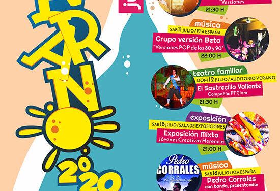 Herencia programa un verano cultural al aire libre y con protocolos de seguridad sanitaria para reactivar la economía del municipio