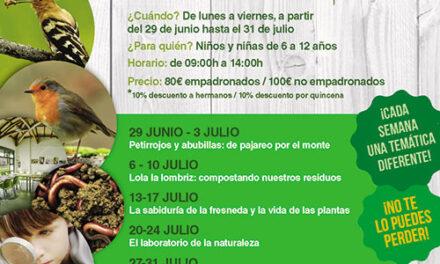 El Aula Medioambiental ofrece campamentos urbanos en julio para niños de 6 a 12 años