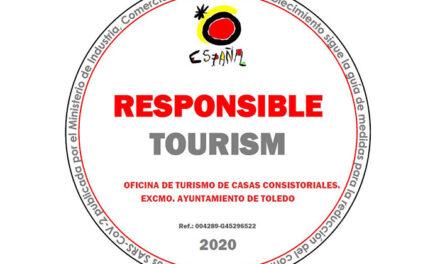 El Ayuntamiento de Toledo cuenta ya con el sello de 'Turismo Responsable' del Ministerio que garantiza un servicio de calidad y seguro al visitante