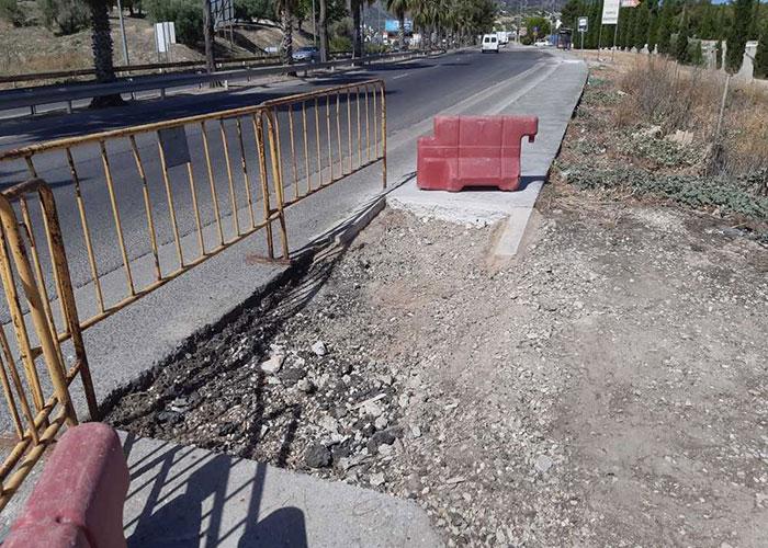 El Ayuntamiento de Jaén acomete obras para convertir en accesible y reducir riesgos en el trayecto entre la Avenida de Granada y el Estadio Municipal de la Victoria