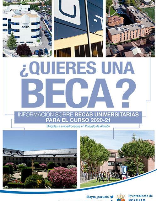 El Ayuntamiento de Pozuelo recuerda que sigue abierto el plazo para solicitar becas de estudio en diferentes universidades