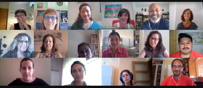 Videoconferencia con los participantes de la nueva 'Lanzadera Conecta Empleo' de Getafe