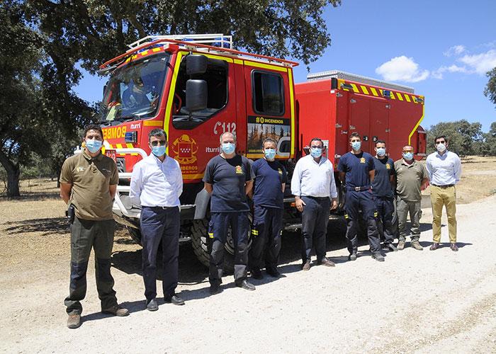 El retén de bomberos forestales de la Comunidad de Madrid ya está instalado en Boadilla