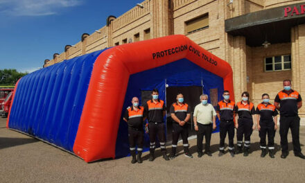 El Ayuntamiento de Toledo dota a Protección Civil de una nueva carpa que duplica el tamaño de la anterior e incorpora mayor equipación