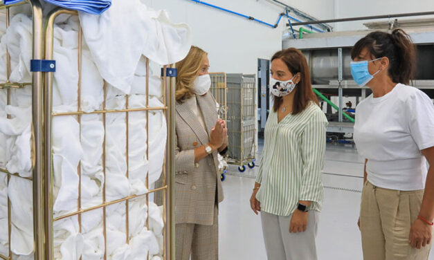 Visita a la nueva planta de lavandería industrial que Carsan instala en Getafe