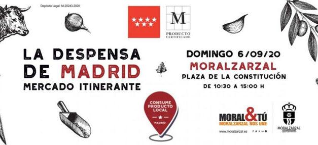 El mercadillo La Despensa Itinerante llega a Moralzarzal el 6 de septiembre con productos de la Comunidad de Madrid