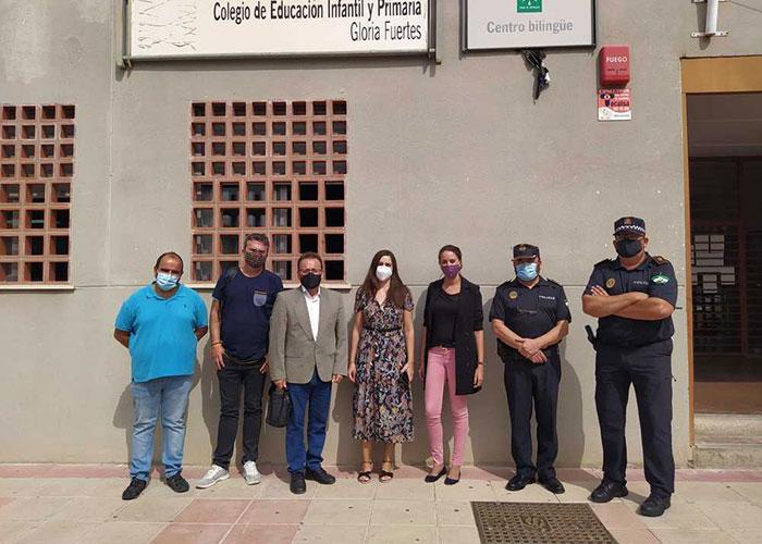 La Concejalía de Seguridad Ciudadana y Tráfico refuerza los servicios de la Policía Local en el entorno de los colegios