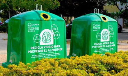 Pinto asume el reto de reciclaje de Ecovidrio para apoyar a los pacientes de Alzheimer