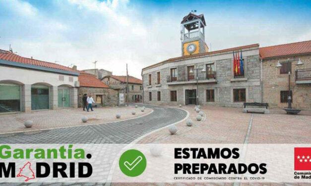 Moralzarzal primer Ayuntamiento que recibe el Identificativo Garantía Madrid de protección frente al COVID-19