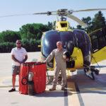 Francisco Lucas* y Juan Cruz Nicolás, comandantes e instructor* y pilotos de helicópteros contra incendios