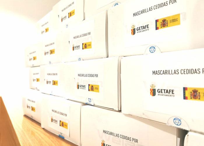 Getafe reparte otras 50.000 mascarillas a familias vulnerables