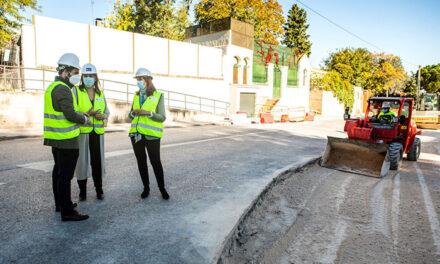 Las obras de la calle Javier Fernández Golfín avanzan a buen ritmo