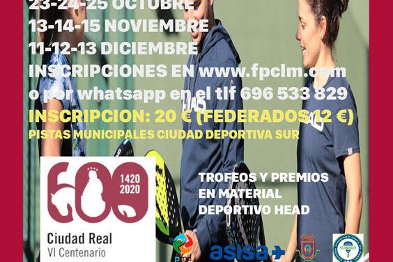 El pádel regresa a las pistas con el Circuito IV Centenario de Ciudad Real
