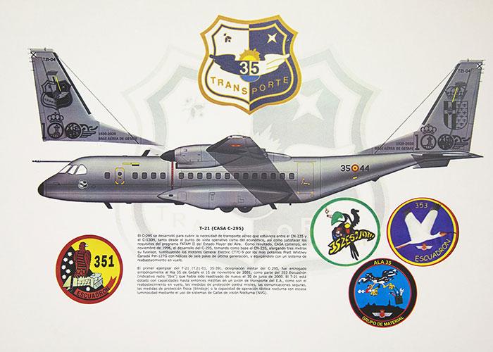 Un avión del Ejército del Aire llevará el escudo de Getafe