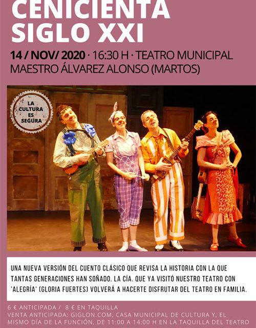 Teatro familiar en el Álvarez Alonso: Cenicienta Siglo XXI