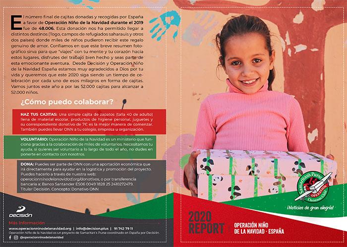 Operación Niño de la Navidad, cajitas de zapatos rellenas de regalos originales, material higiénico y escolar