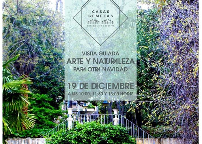 Juventud organiza visitas guiadas a los Jardines de Jabalcuz y las Casas Gemelas que se han convertido en escenario de un proyecto creativo de cuatro jóvenes artistas