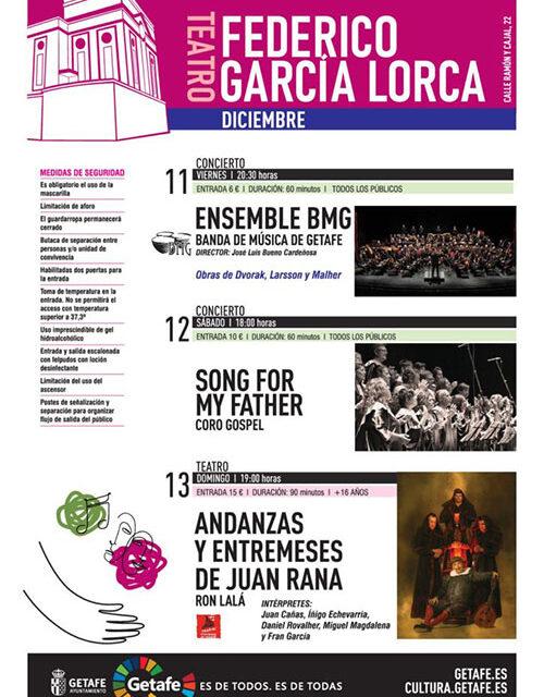 'Entremeses y andanzas de Juan Rana', Gospel y la Banda de Música de Getafe protagonistas en el Teatro Federico García Lorca
