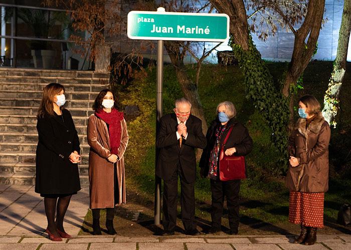 Pozuelo de Alarcón rinde homenaje al director de fotografía Juan Mariné y le dedica una plaza en la Ciudad de la Imagen