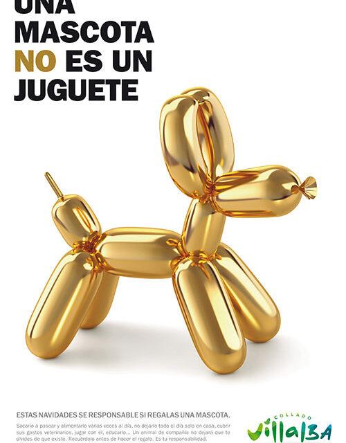 """""""Una mascota no es un juguete"""", lema de la nueva campaña informativa del Ayuntamiento de Collado Villalba que apuesta por la tenencia responsable de animales"""