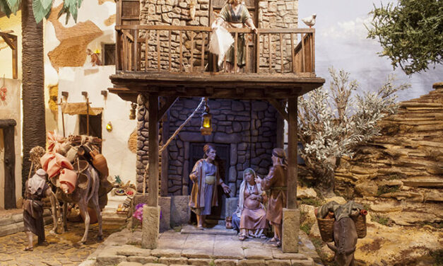 Original y 'cautivador' belén navideño en la parroquia de los Ángeles de Ciudad Real