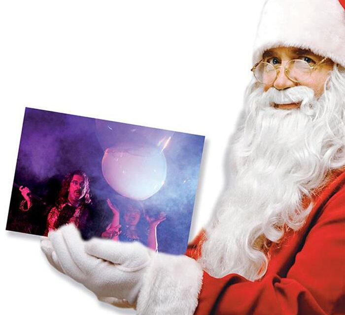 Recorrido de Papá Noel y espectáculo de burbujas gigantes en Pinto