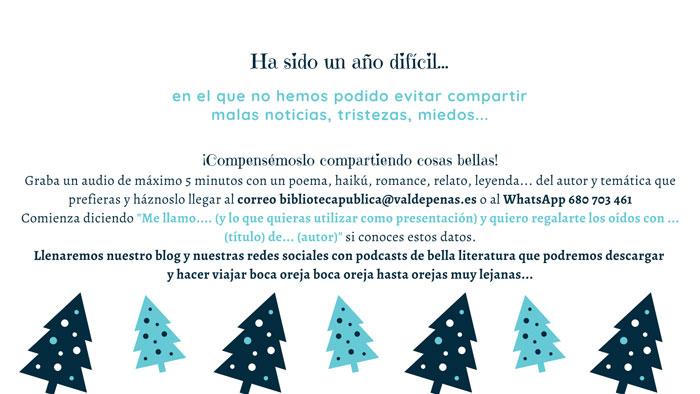 La Biblioteca de Valdepeñas desarrolla la exitosa actividad 'Esta Navidad quiero regalarte… los oídos'