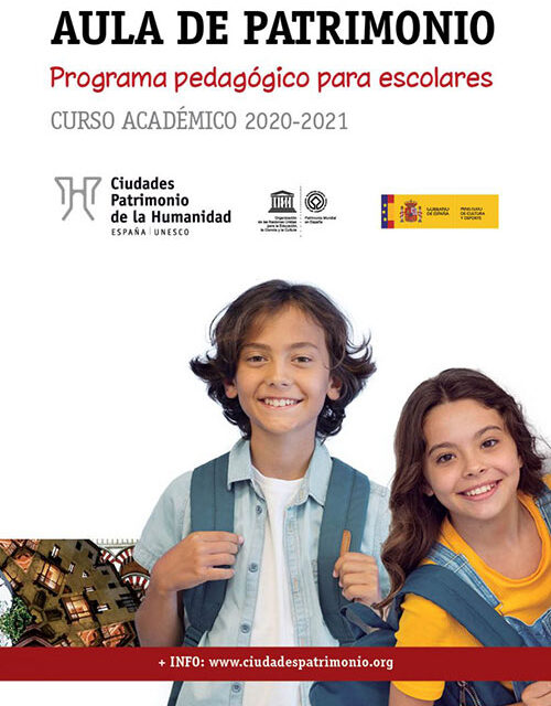 Abierto el plazo para participar en el VIII programa pedagógico para escolares 'Aula de Patrimonio' de Ciudades Patrimonio