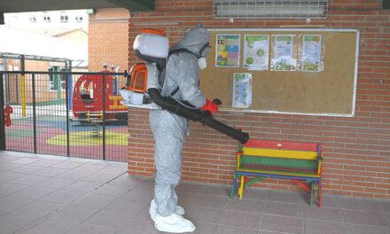Operación especial de desinfección anti-COVID en los colegios y escuelas infantiles públicos