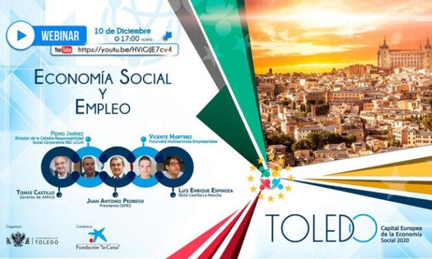 La economía social y el empleo a debate en el tercer seminario web con motivo de la Capitalidad Europea de Toledo