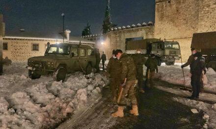 La UME y la Brigada Paracaidista del Ejército de Tierra trabajan desde esta noche en el dispositivo especial de limpieza de Toledo