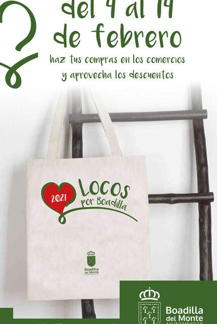 «Locos por Boadilla», una campaña para fomentar el comercio local en San Valentín