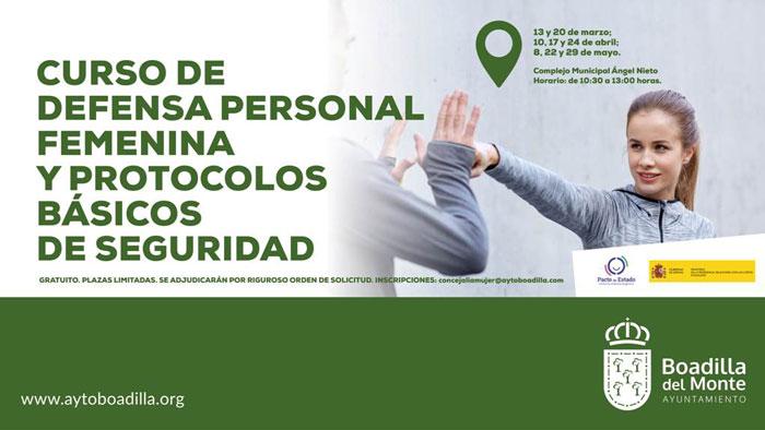 El Ayuntamiento de Boadilla ofrece un nuevo curso gratuito de defensa personal femenina y protocolos básicos de seguridad