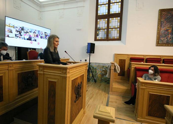 La alcaldesa de Toledo destaca la ingente labor de los medios humanos y materiales que se activaron para paliar los efectos de 'Filomena'