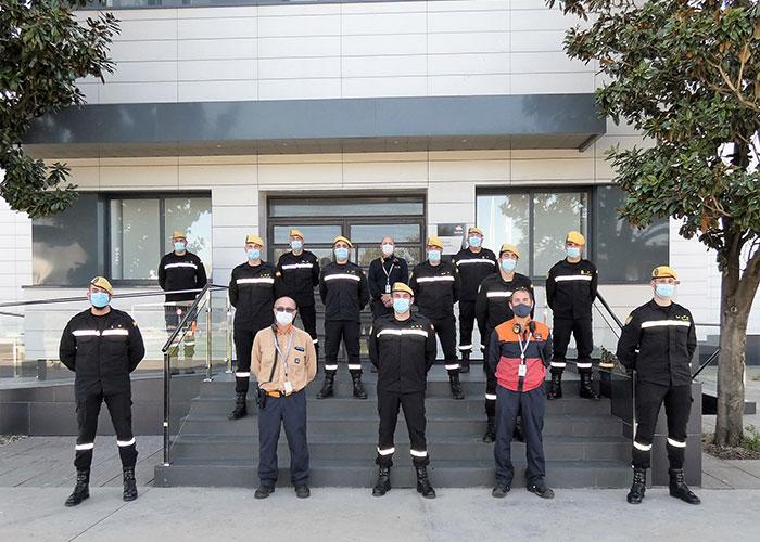 Repsol y la Unidad Militar de Emergencias (UME) refuerzan su colaboración en materia de formación en el Complejo Industrial de Puertollano