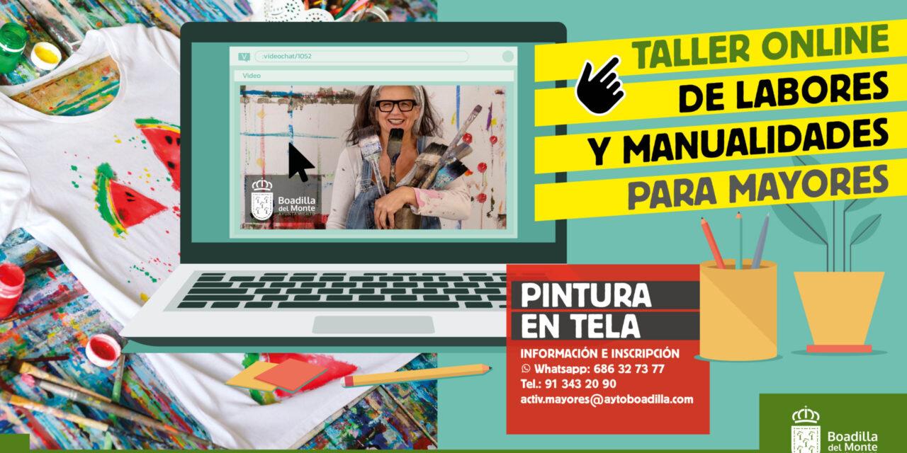 El Ayuntamiento de Boadilla organiza un nuevo taller online para mayores sobre labores y manualidades