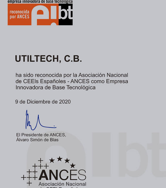 CEEI Ciudad Real entrega a Utiltech el Sello de Empresa Innovadora de Base Tecnológica