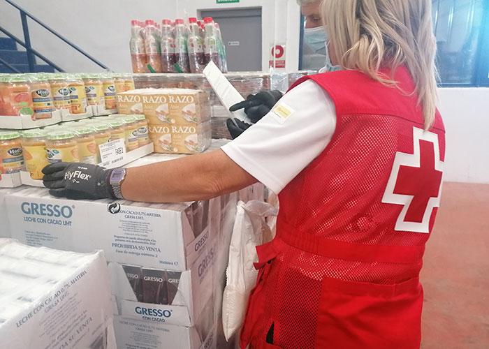Cruz Roja distribuye más de 160.000 kilos de alimentos a cerca de 7.000 personas vulnerables